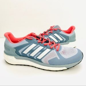 Blue/Coral Adidas Supernova St Running Shoe